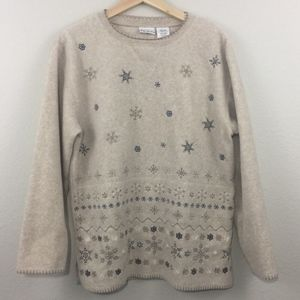 Vintage Snowflake Winter Pullover Sweater